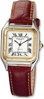 Mens Charles Hubert Leather Band White Dial Retro 32mm Watch