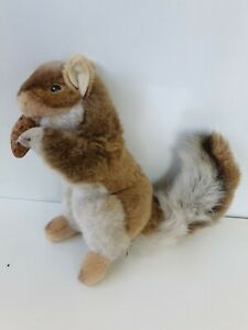Hansa Creation Squirrel Realistic Plush Stuffed Toy Animal with nut 26cm