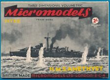 Micromodels Original old set S III H.M.S.Amethyst