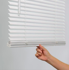 1-IN CORDLESS WHITE VINYL LIGHT FILTERING MINI BLINDS MULTIPLE SIZES