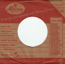 Company Sleeve 45 Mercury - Red & Brown Upper Edge Record Number & Price