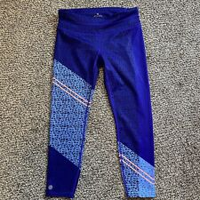 Athleta Blue Speckle Womens Athletic Legging Pants Size Medium Petite