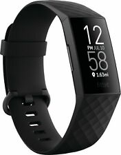 FITBIT CHARGE 4 Advanced Fitness Tracker + GPS Black Unopened BRAND NEW