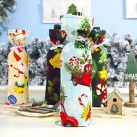 Red Wine Bottle Cover Bags Snowman Santa Claus Christmas Table Decoration Well