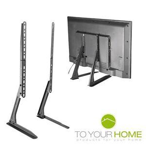 "Universal Table Desk Pedestal TV Stand Screen Monitor Riser for LCD LED 13""-70"""