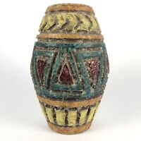 Mid Century Vintage Bitossi Londi Italian Art Pottery Lava Glaze Vase Vessel