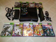 New listing Microsoft Xbox 360s Kinect Bundle 250Gb Black Console, w/9 games