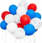 Patriotic Party Balloons in Red, White, and Blue (12 Inches, 116-Pack)
