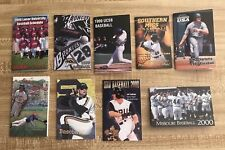 1999 and 2000 College Baseball Schedule Lot of 9