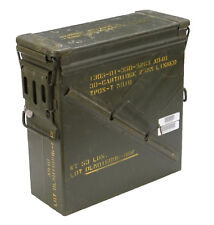 US Army Olive Large Metal Ammo Box Used Military Surplus Size 4