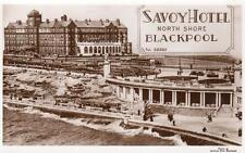 Savoy Hotel North Shore Blackpool Advert unused RP pc Saidman Bros