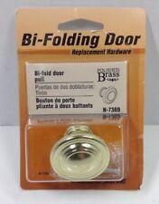 Prime-Line Brass Bi Fold Door Knob Bi-Folding Replacement Hardware N-7369 New