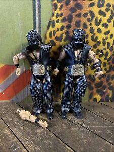 VINTAGE 2003 WWF JAKKS CLASSICS DEMOLITION FIGURES LOOSE BELTS HOODS MASKS WWE