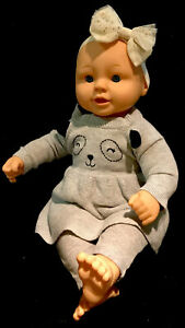 """20"""" Large Baby Girl Soft cloth And Vinyl Doll Dressed GUC"""