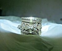 Antique Silver Ring ethnic tribal bedouin gypsy Egyptian Zar ring silver unique