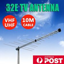 TV Antenna 32 Element Log Periodic Outdoor UHF VHF FM HDTV Digital Aerial BG