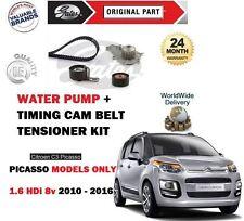 Per i modelli CITROEN c3 PICASSO 1.6 HDI 8v 2010 - > Timing Cinghia Camma Kit + POMPA ACQUA