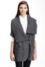 BCBG Max Azria oversized  XXS Gray Knit Cardigan Sweater  Collared Blanket