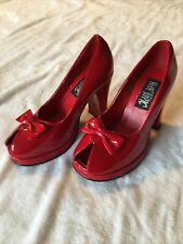 Hot Topic Sexy Red Heels Pumps Size 8 EUC