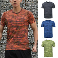 Men's Casual Slim Fit Short Sleeve Tops Muscle Gym Tee T-shirt Blouse Fashion