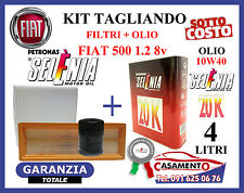 KIT TAGLIANDO FIAT 500 1.2 8v  FILTRI + OLIO MOTORE SELENIA 20K 10W40