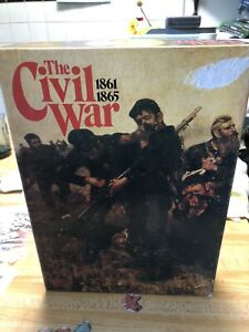 The Civil War 1861-1865 Board Game Victory Games Partially Punched 99% Complete