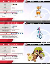 Pokemon PYROBUT + LEZARGUS + GORYTHMIC SHINY 6iv Talents cachés (épée/bouclier)