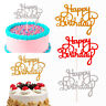 15pcs Glitter Happy Birthday Cake Topper Cupcake Dessert Party Decor Supplies