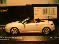 EXTREMELY RARE MINICHAMPS 1/43 2008 ALFA SPIDER EDIZIONE OUTSTANDING DETAIL NLA