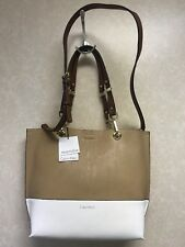 Calvin Klein Reversible One Size Tote Beige White MSRP  148 On Sale For  69 bcd47a3197b