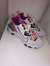 NIKE REACT VISION TRAINERS UK8 White, Purple, Coral, Green