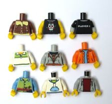 Lego 9 Assorted Torso Body For Male Boy Minifigure Figure Jacket Hoodies & More