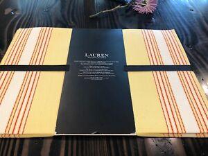 Ralph Lauren set Of 6 placemats polyvinyl indoor outdoor yellow Stripes Red Whit
