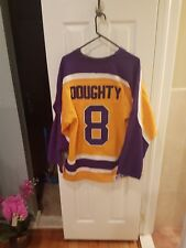Los Angeles kings drew doughty #8 multicolor  large stitched  jersery beautiful