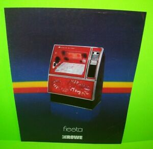Fiesta R-83 Rowe Jukebox FLYER Original Phonograph Music Promo Art Sheet 1979