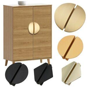 Nordic Geometric Cabinet Drawer Pull Knob Aluminum Matte Cupboard Handle