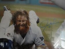 JUSTIN TURNER AUTO 20x24 FRAMED LOS ANGELES DODGERS PSA/DNA