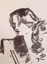 "JOSE TRUJILLO ORIGINAL MODERN ART ABSTRACT EXPRESSIONISM INK WASH 18X24"" SIGNED"