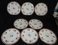 "Spode England Darlington Orange 8 Dinner Plates Y6568 10 1/2"" Bone China Used"