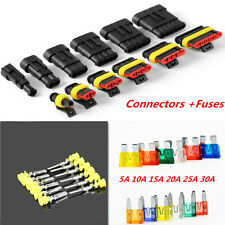 Car Waterproof Electrical 1/2/3/4/5/6Pin Wire Way Connector Terminal Blade Fuses