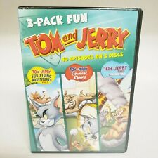 Tom and Jerry 3 Pack Fun DVD SET - 40 Episodes on 3 Discs DVD NEW!