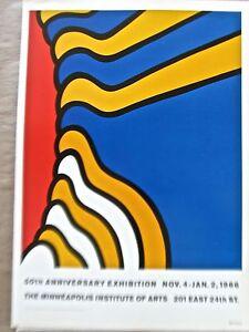 Nicolas Krushenick  Poster for1966 50th Anniversary Minn Institute of Art   pp