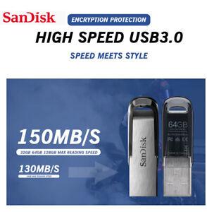 ORIGINALE PEN DRIVE Sandisk Ultra Flair 64 GB, Chiavetta USB 3.0, 150 MB/s