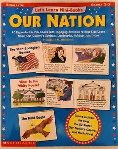 NEW OUR NATION 20 Reproducible Mini Books Homeschool History Activity Grades 2-3