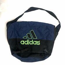 De Colección Adidas Mensajero Bolso Negro, azul y verde años 90