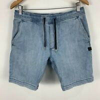 Billabong Denim Shorts Mens Medium Blue Elastic Waist Drawstring Pockets
