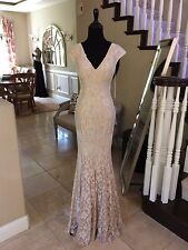 $640 NWT NUDE JOVANI PROM/PAGEANT/FORMAL/WEDDING DRESS/GOWN #35025 SIZE 10