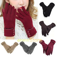Lady Women Gloves Touch Screen Ball Glove Winter Warm Thick Lined Texting Mitten