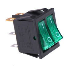 Double boat rocker switch 6 Pin On-Off with green light 20A 125VAC KCD6_CH