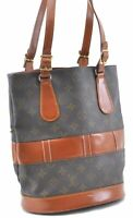Authentic Louis Vuitton Monogram Bucket PM Shoulder Bag USA Model LV B7782